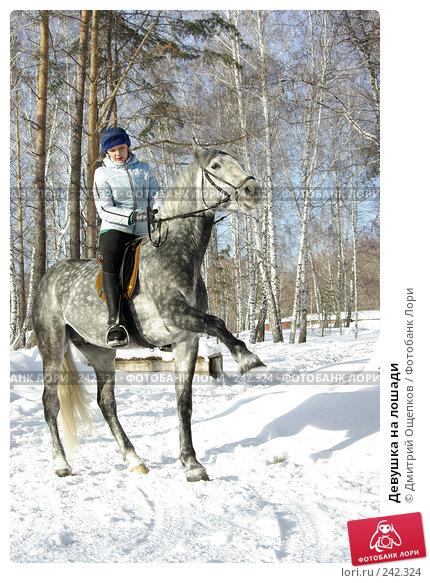 Девушка на лошади, фото № 242324, снято 25 июня 2017 г. (c) Дмитрий Ощепков / Фотобанк Лори