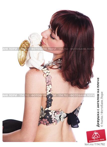 Девушка с ангелом на плече, фото № 114792, снято 12 августа 2007 г. (c) hunta / Фотобанк Лори