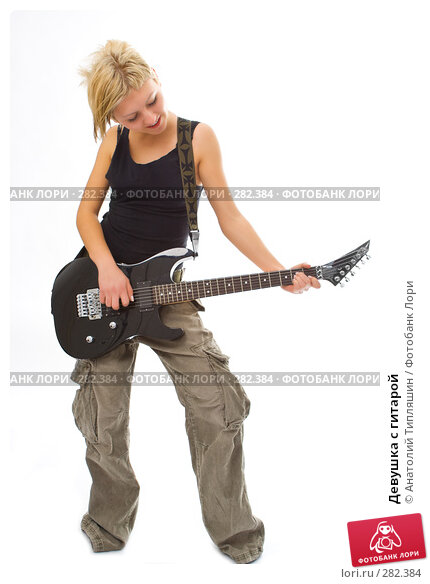 Девушка с гитарой, фото № 282384, снято 22 января 2008 г. (c) Анатолий Типляшин / Фотобанк Лори