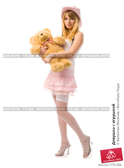 Девушка с игрушкой, фото № 175256, снято 12 января 2008 г. (c) Валентин Мосичев / Фотобанк Лори