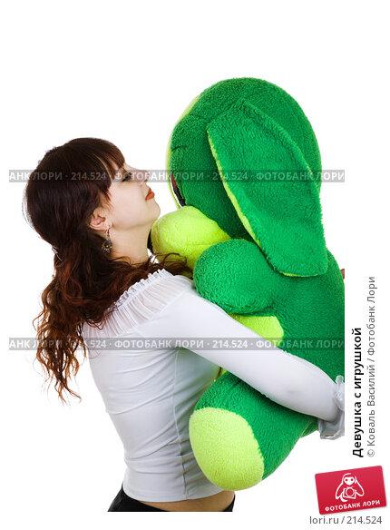 Купить «Девушка с игрушкой», фото № 214524, снято 8 декабря 2006 г. (c) Коваль Василий / Фотобанк Лори