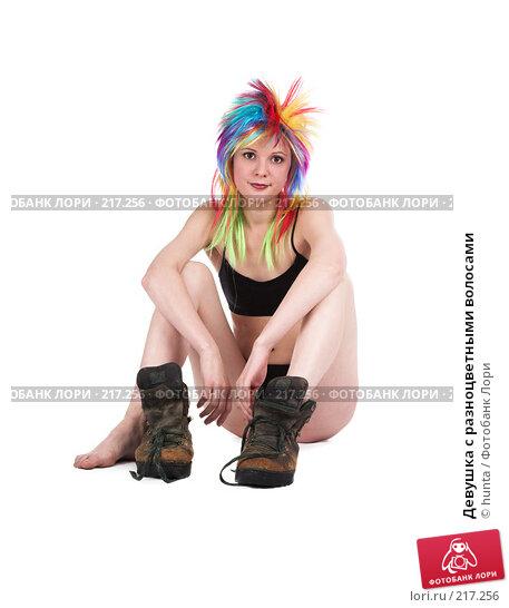 Девушка с разноцветными волосами, фото № 217256, снято 8 ноября 2007 г. (c) hunta / Фотобанк Лори