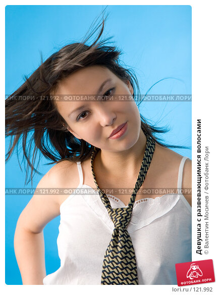 Девушка с развевающимися волосами, фото № 121992, снято 17 ноября 2007 г. (c) Валентин Мосичев / Фотобанк Лори