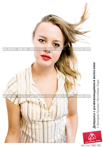 Девушка с развевающимися волосами, фото № 268192, снято 4 октября 2007 г. (c) Валерия Потапова / Фотобанк Лори