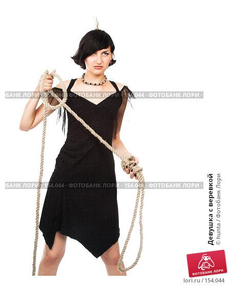 Девушка с веревкой, фото № 154044, снято 24 июля 2007 г. (c) hunta / Фотобанк Лори