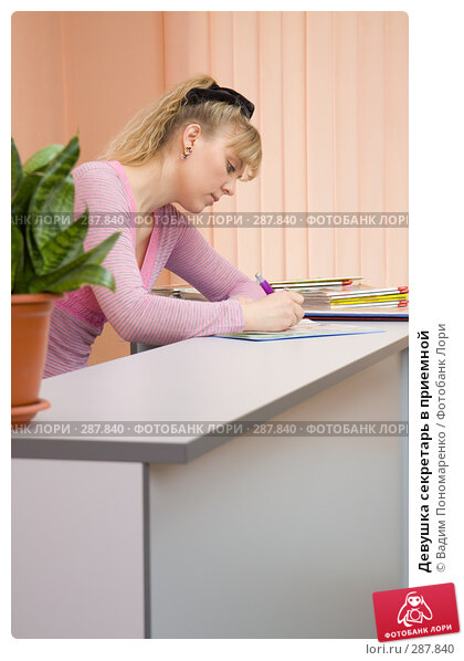 Купить «Девушка секретарь в приемной», фото № 287840, снято 10 мая 2008 г. (c) Вадим Пономаренко / Фотобанк Лори