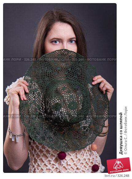 Девушка со шляпой, фото № 326248, снято 26 апреля 2008 г. (c) Ольга С. / Фотобанк Лори