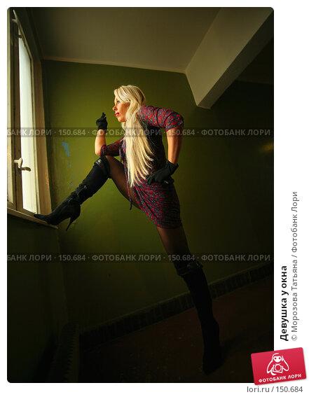 Купить «Девушка у окна», фото № 150684, снято 12 октября 2006 г. (c) Морозова Татьяна / Фотобанк Лори