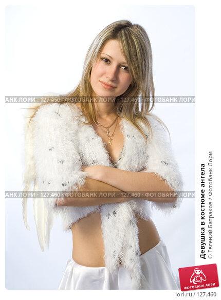 Девушка в костюме ангела, фото № 127460, снято 21 октября 2007 г. (c) Евгений Батраков / Фотобанк Лори