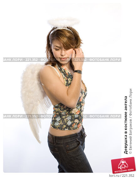 Девушка в костюме ангела, фото № 221352, снято 10 февраля 2008 г. (c) Евгений Батраков / Фотобанк Лори