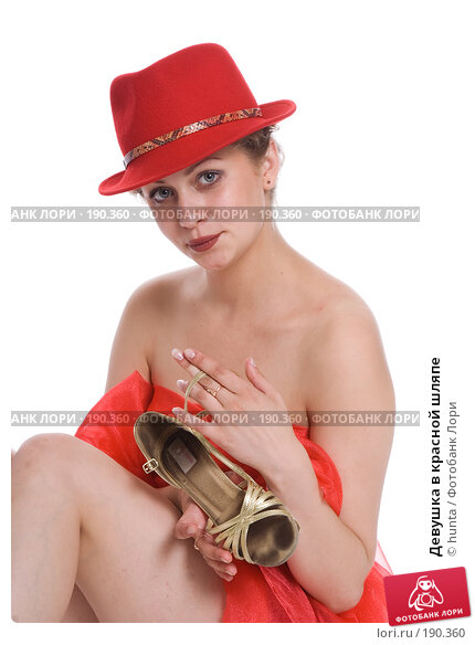 Девушка в красной шляпе, фото № 190360, снято 17 июля 2007 г. (c) hunta / Фотобанк Лори