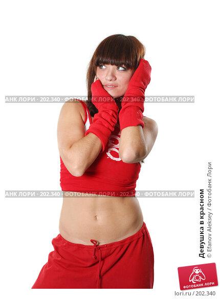 Девушка в красном, фото № 202340, снято 9 февраля 2008 г. (c) Efanov Aleksey / Фотобанк Лори