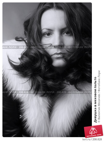Девушка в меховом пальто, фото № 208828, снято 3 ноября 2007 г. (c) Валентин Мосичев / Фотобанк Лори