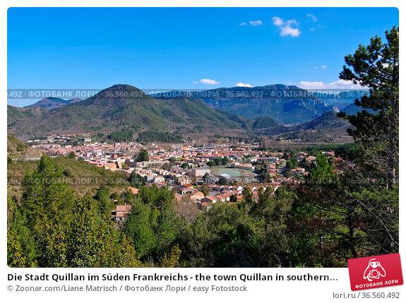 Die Stadt Quillan im Süden Frankreichs - the town Quillan in southern... Стоковое фото, фотограф Zoonar.com/Liane Matrisch / easy Fotostock / Фотобанк Лори