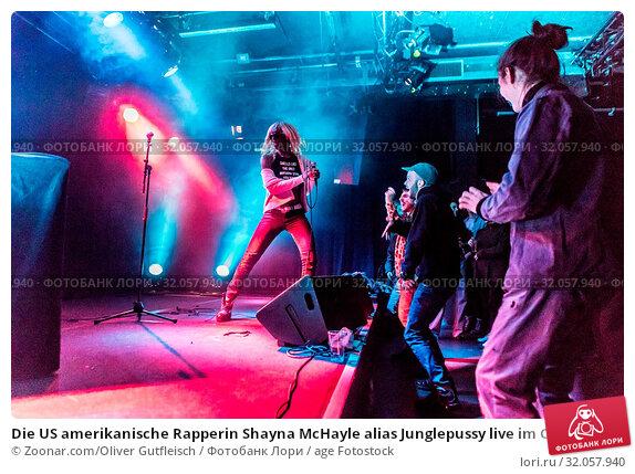 Die US amerikanische Rapperin Shayna McHayle alias Junglepussy live im Club Südpol, Kriens, Luzern, Schweiz, Europa. Стоковое фото, фотограф Zoonar.com/Oliver Gutfleisch / age Fotostock / Фотобанк Лори