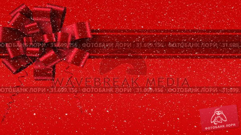 Купить «Digital animation of red ribbon with gift bow against red background 4k», видеоролик № 31699156, снято 26 октября 2018 г. (c) Wavebreak Media / Фотобанк Лори