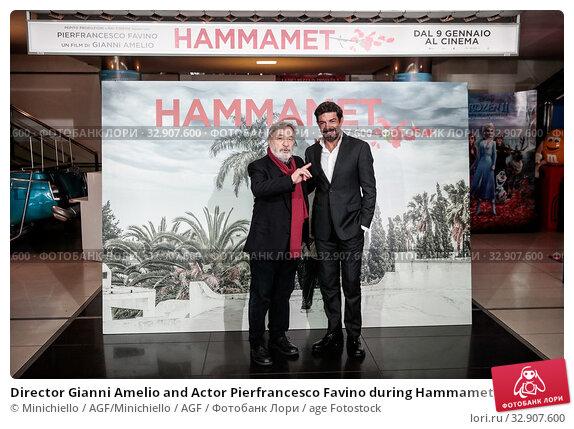 Director Gianni Amelio and Actor Pierfrancesco Favino during Hammamet movie photocall. Rome, Italy 08-01-2020. Редакционное фото, фотограф Minichiello / AGF/Minichiello / AGF / age Fotostock / Фотобанк Лори