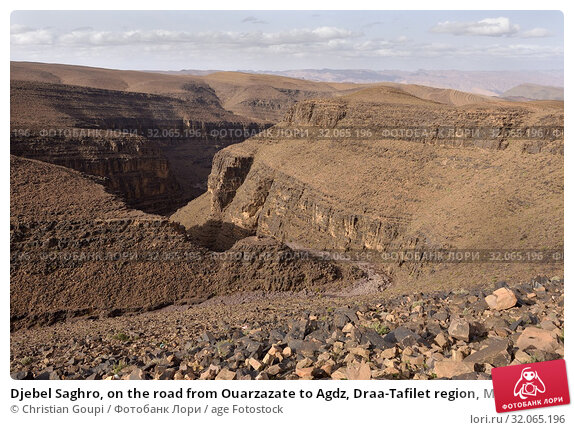Djebel Saghro, on the road from Ouarzazate to Agdz, Draa-Tafilet region, Morocco, North West Africa. Стоковое фото, фотограф Christian Goupi / age Fotostock / Фотобанк Лори