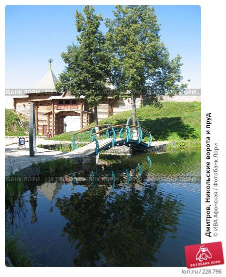 Купить «Дмитров, Никольские ворота и пруд», фото № 228796, снято 3 августа 2006 г. (c) ИВА Афонская / Фотобанк Лори