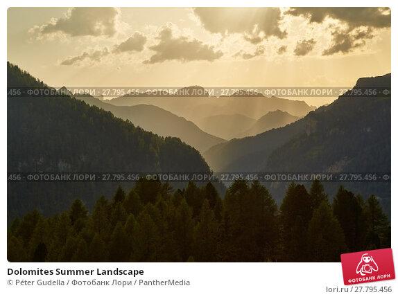 Купить «Dolomites Summer Landscape», фото № 27795456, снято 16 октября 2018 г. (c) PantherMedia / Фотобанк Лори