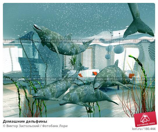Домашние дельфины, иллюстрация № 180444 (c) Виктор Застольский / Фотобанк Лори