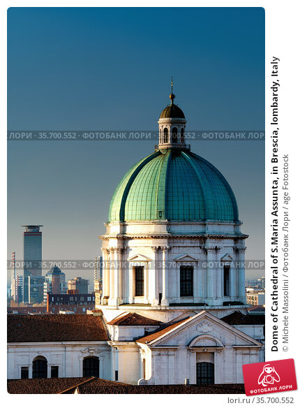 Dome of Cathedral of S.Maria Assunta, in Brescia, lombardy, Italy. Стоковое фото, фотограф Michele Massolini / age Fotostock / Фотобанк Лори