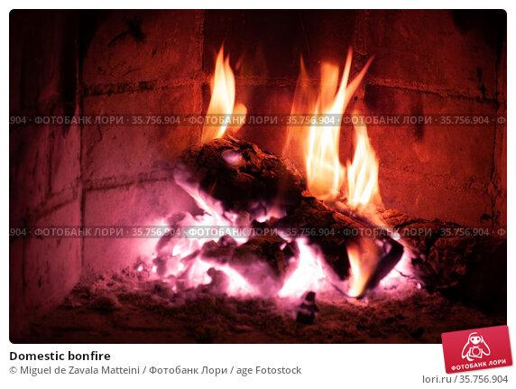 Domestic bonfire. Стоковое фото, фотограф Miguel de Zavala Matteini / age Fotostock / Фотобанк Лори