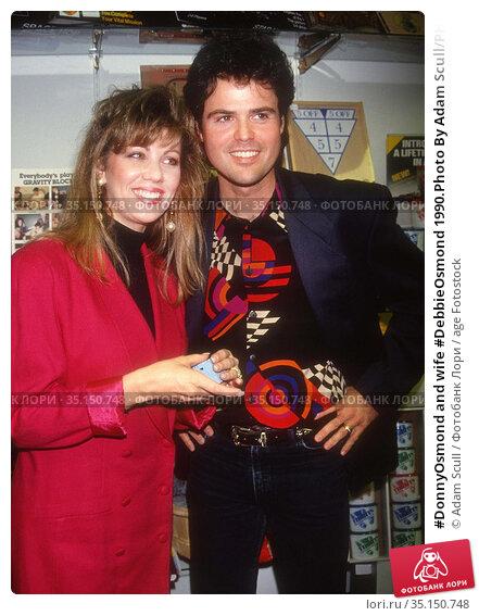 #DonnyOsmond and wife #DebbieOsmond 1990.Photo By Adam Scull/PHOTOlink... Редакционное фото, фотограф Adam Scull / age Fotostock / Фотобанк Лори