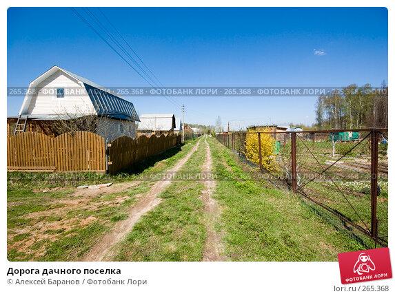 Купить «Дорога дачного поселка», фото № 265368, снято 26 апреля 2008 г. (c) Алексей Баранов / Фотобанк Лори