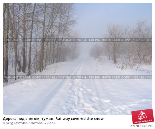Дорога под снегом, туман. Railway covered the snow, фото № 130196, снято 25 марта 2005 г. (c) Serg Zastavkin / Фотобанк Лори