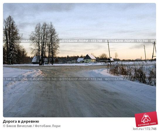 Купить «Дорога в деревню», фото № 172748, снято 22 декабря 2007 г. (c) Бяков Вячеслав / Фотобанк Лори