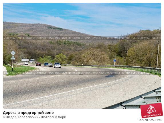 Дорога в предгорной зоне, фото № 250196, снято 12 апреля 2008 г. (c) Федор Королевский / Фотобанк Лори
