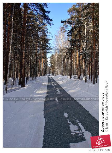 Дорога в зимнем лесу, фото № 136528, снято 24 февраля 2007 г. (c) Ivan I. Karpovich / Фотобанк Лори