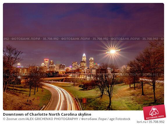 Downtown of Charlotte North Carolina skyline. Стоковое фото, фотограф Zoonar.com/ALEX GRICHENKO PHOTOGRAPHY / age Fotostock / Фотобанк Лори