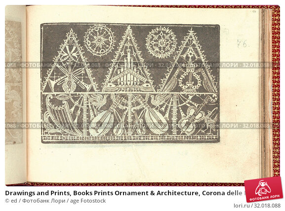 Купить «Drawings and Prints, Books Prints Ornament & Architecture, Corona delle Nobili et Virtuose Donne: Libro IV, page 76 (recto), Publisher, Cesare Vecellio...», фото № 32018088, снято 22 апреля 2017 г. (c) age Fotostock / Фотобанк Лори