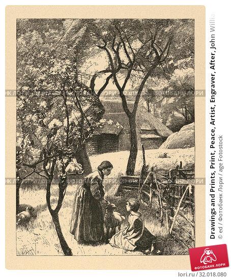 Купить «Drawings and Prints, Print, Peace, Artist, Engraver, After, John William North, Dalziel Brothers, British, London 1842–1924 Stamborough, Somerset, British...», фото № 32018080, снято 10 апреля 2017 г. (c) age Fotostock / Фотобанк Лори