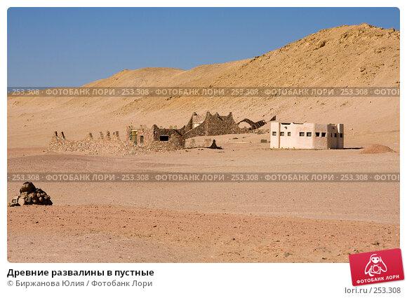 Купить «Древние развалины в пустные», фото № 253308, снято 2 января 2008 г. (c) Биржанова Юлия / Фотобанк Лори