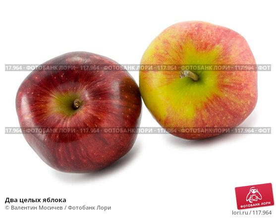 Два целых яблока, фото № 117964, снято 2 февраля 2007 г. (c) Валентин Мосичев / Фотобанк Лори