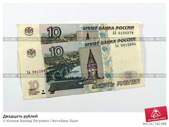 Двадцать рублей, фото № 142088, снято 8 декабря 2007 г. (c) Коннов Леонид Петрович / Фотобанк Лори
