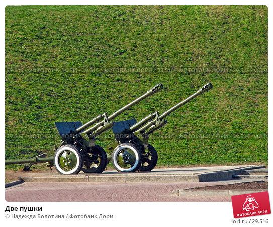 Две пушки, фото № 29516, снято 13 мая 2006 г. (c) Надежда Болотина / Фотобанк Лори