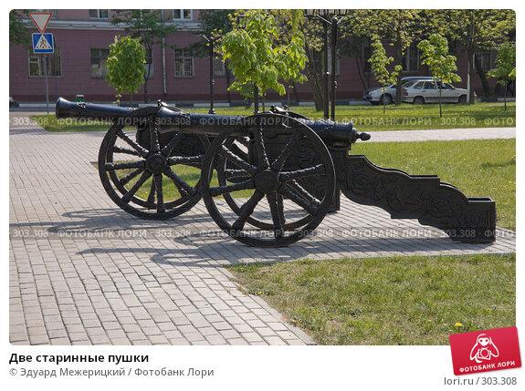 Две старинные пушки, фото № 303308, снято 12 мая 2008 г. (c) Эдуард Межерицкий / Фотобанк Лори