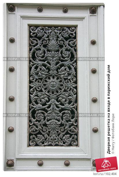 Купить «Дверная решетка на входе в парижский дом», фото № 102404, снято 18 марта 2018 г. (c) Harry / Фотобанк Лори