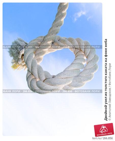 Двойной узел из толстого каната на фоне неба, фото № 266856, снято 7 октября 2006 г. (c) Анатолий Заводсков / Фотобанк Лори