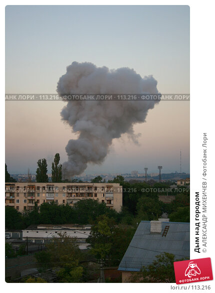Дым над городом, фото № 113216, снято 18 августа 2007 г. (c) АЛЕКСАНДР МИХЕИЧЕВ / Фотобанк Лори