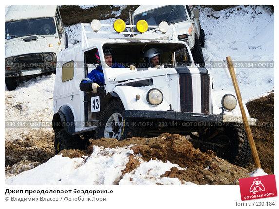 Джип преодолевает бездорожье, фото № 230184, снято 22 марта 2008 г. (c) Владимир Власов / Фотобанк Лори