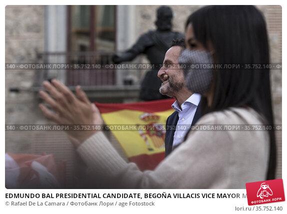 EDMUNDO BAL PRESIDENTIAL CANDIDATE, BEGOÑA VILLACIS VICE MAYOR MADRID... Редакционное фото, фотограф Rafael De La Camara / age Fotostock / Фотобанк Лори