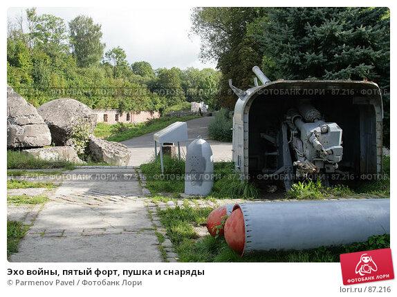 Эхо войны, пятый форт, пушка и снаряды, фото № 87216, снято 7 сентября 2007 г. (c) Parmenov Pavel / Фотобанк Лори