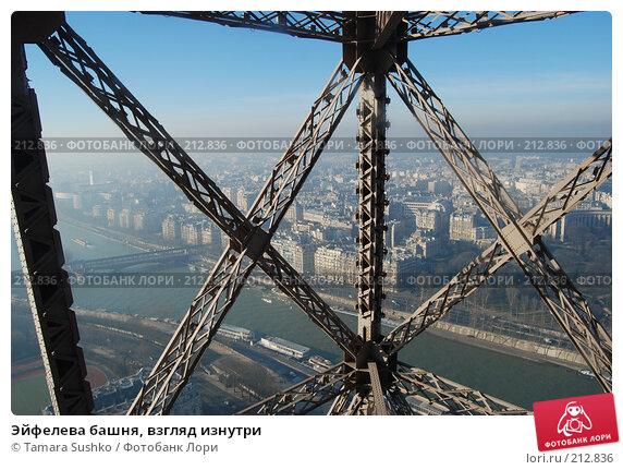 Эйфелева башня, взгляд изнутри, фото № 212836, снято 24 декабря 2007 г. (c) Tamara Sushko / Фотобанк Лори