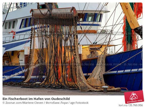 Ein Fischerboot im Hafen von Oudeschild. Стоковое фото, фотограф Zoonar.com/Marlene Cleven / age Fotostock / Фотобанк Лори