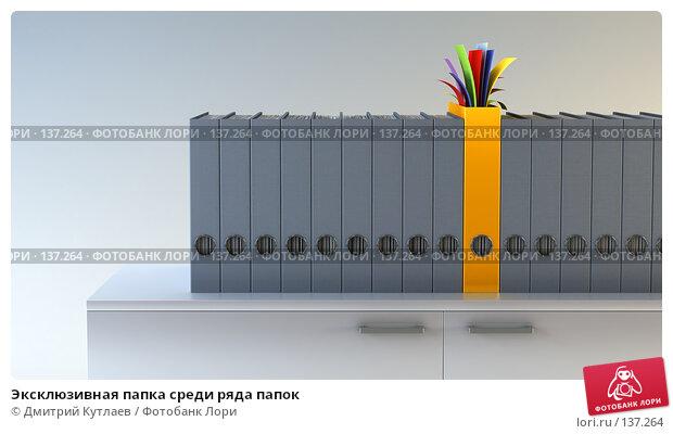 Эксклюзивная папка среди ряда папок, иллюстрация № 137264 (c) Дмитрий Кутлаев / Фотобанк Лори